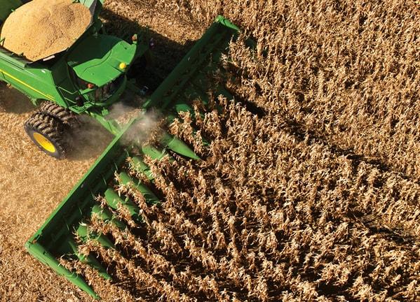 AutoTrac™ RowSense™ Guia Inteligente para colheita de Milho.