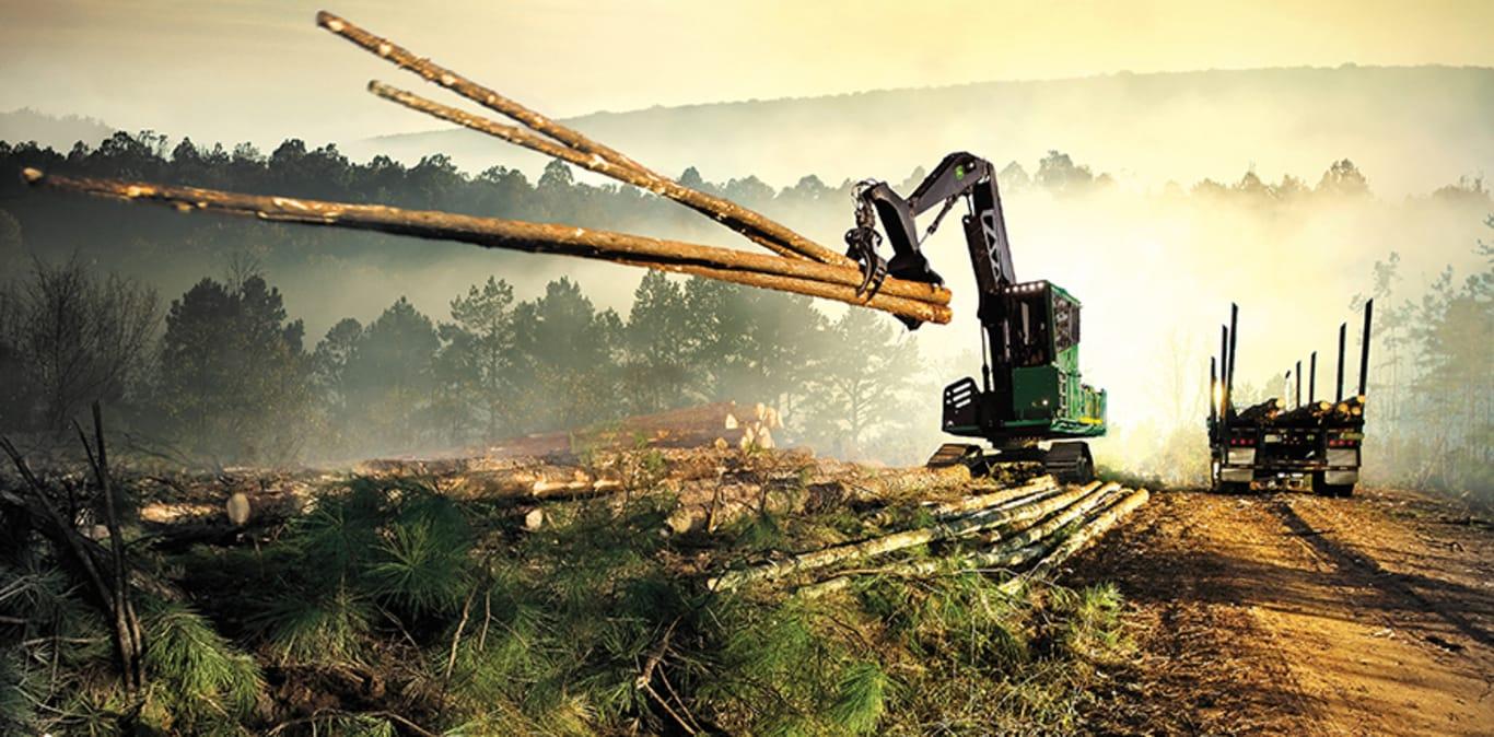 Máquinas florestais sólidas de última geração.