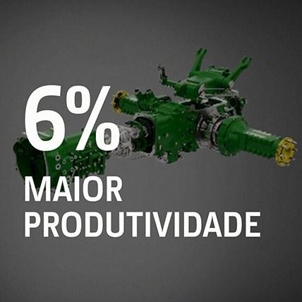 6% Maior Produtividade Motor e Transmissão